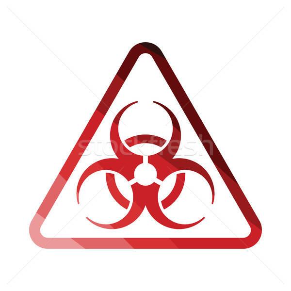 Ikon bioveszély szín terv orvosi oktatás Stock fotó © angelp