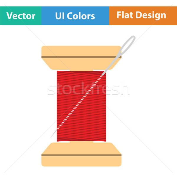 Szycia wątku ikona kolor projektu Zdjęcia stock © angelp