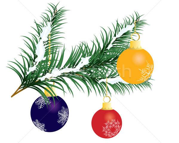 Noel güzel vektör yılbaşı dizayn doku Stok fotoğraf © angelp