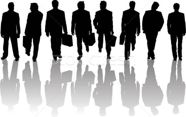 Personas colección gente de negocios siluetas oscuridad negocios Foto stock © angelp