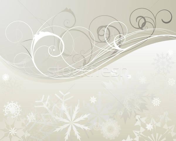 クリスマス 美しい ベクトル デザイン 自然 ストックフォト © angelp