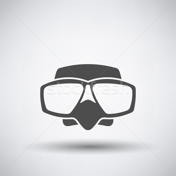 スキューバダイビング マスク アイコン 釣り グレー 水 ストックフォト © angelp