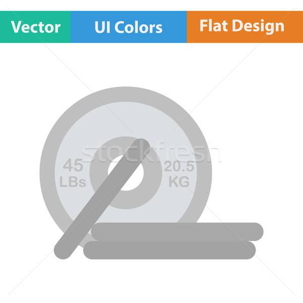 Projektu ikona sztanga ui kolory sportu Zdjęcia stock © angelp