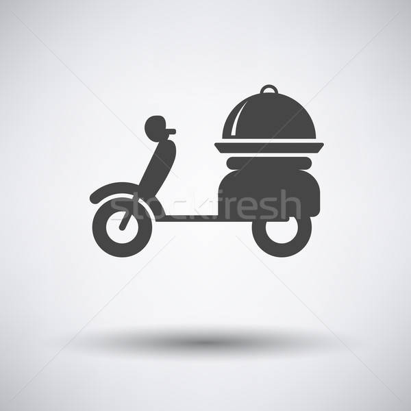 Delivering motorcycle icon Stock photo © angelp