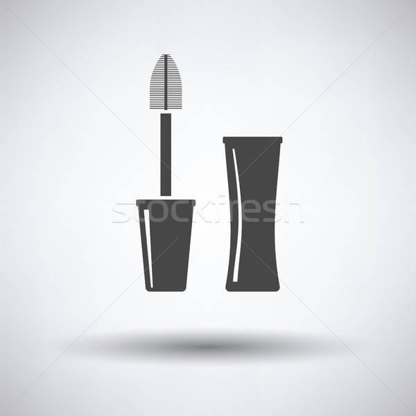 Mascara icon grijs oog kleur inkt Stockfoto © angelp