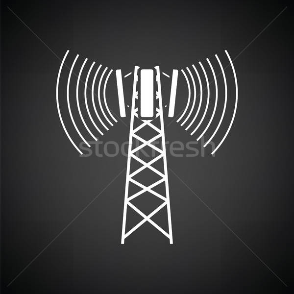 Cellular broadcasting antenna icon Stock photo © angelp