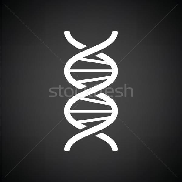 DNS ikon feketefehér absztrakt orvosi egészség Stock fotó © angelp