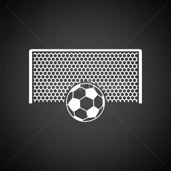 Voetbal poort bal boete punt icon Stockfoto © angelp