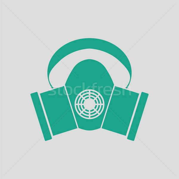 ほこり 保護 マスク アイコン グレー 緑 ストックフォト © angelp