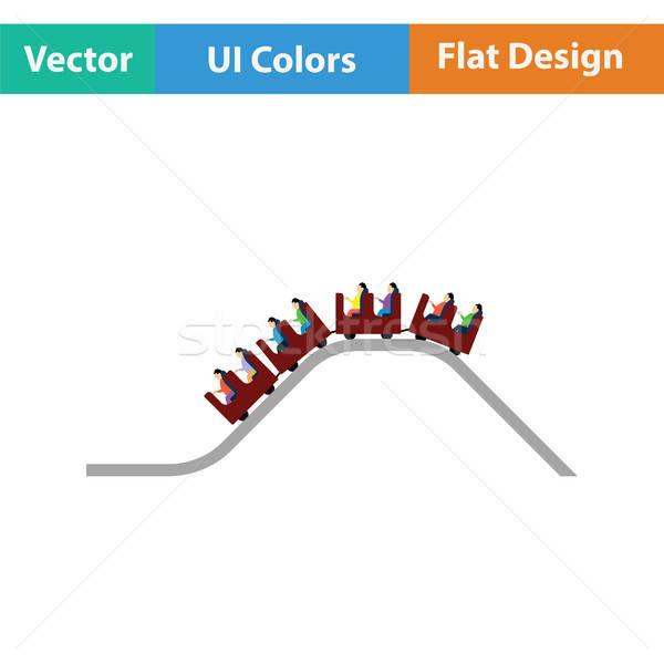 Pequeno montanha-russa ícone diversão menino acelerar Foto stock © angelp