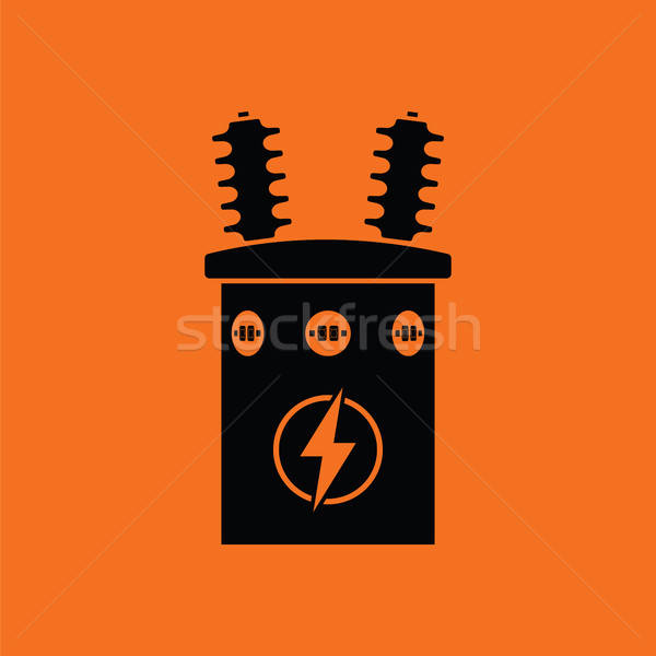 Electric transformer icon Stock photo © angelp