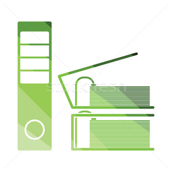 Folders with clip icon Stock photo © angelp