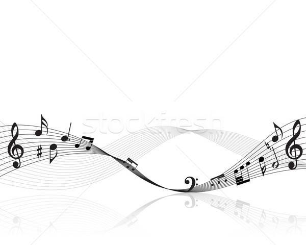 Foto stock: Notas · personal · vector · notas · musicales · diseno · clave