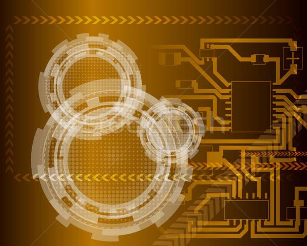 Technologisch futuristische illustratie doorzichtigheid eps10 computer Stockfoto © angelp