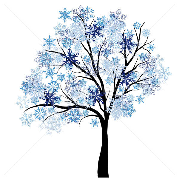 Winter tree Stock photo © angelp