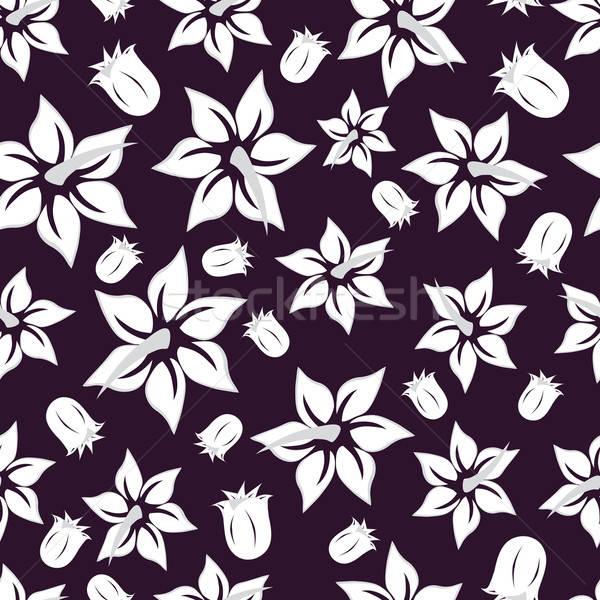 Stock fotó: Végtelenített · virágmintás · terv · könnyű · készít · végtelen · minta