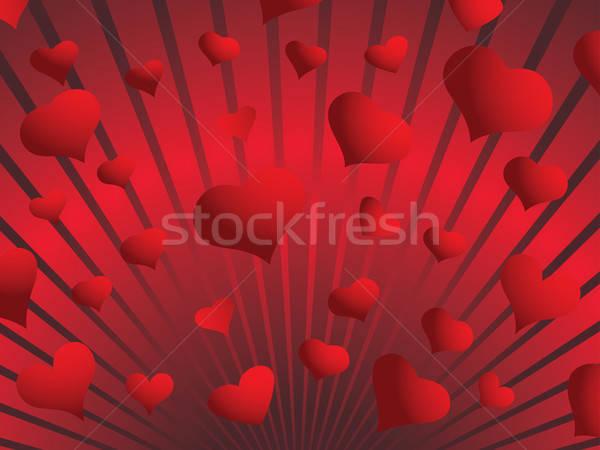 バレンタイン 日 グリーティングカード 心 結婚式 自然 ストックフォト © angelp
