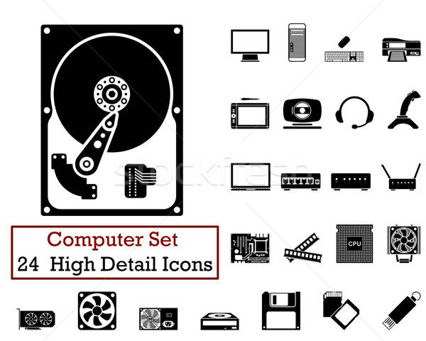 24 Computer Icons Stock photo © angelp