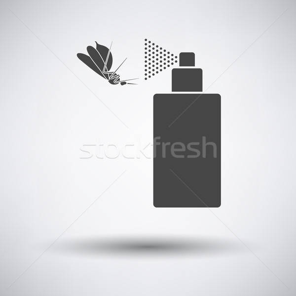 Mosquito spray ícone cinza medicina cor Foto stock © angelp