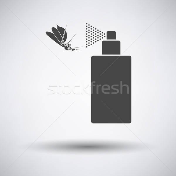 Zanzara spray icona grigio medicina colore Foto d'archivio © angelp