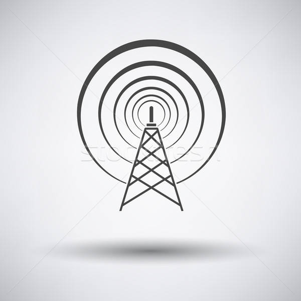 Radyo anten ikon gri iş dizayn Stok fotoğraf © angelp