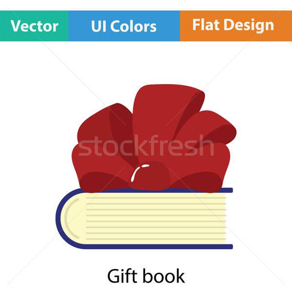Livre Ruban Arc Icone Couleur Design