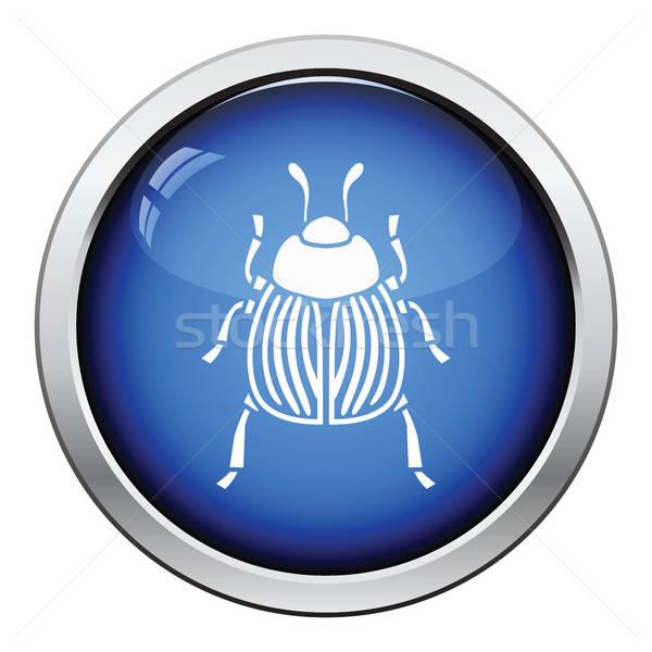 Zdjęcia stock: Colorado · beetle · ikona · przycisk · projektu