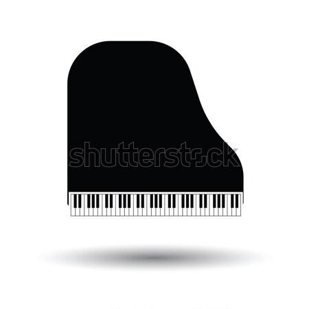 Flügel Symbol grau Hintergrund Rahmen Zeichen Stock foto © angelp