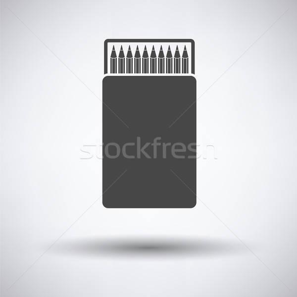 Pencil box icon Stock photo © angelp
