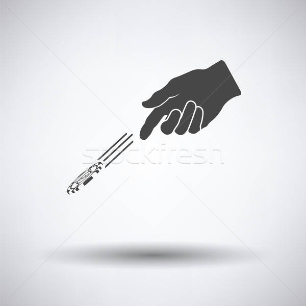 Hand throwing gamble chips icon Stock photo © angelp