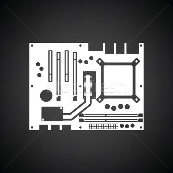 Motherboard icon Stock photo © angelp