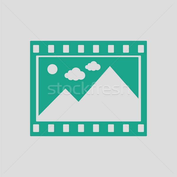Film çerçeve ikon gri yeşil uzay Stok fotoğraf © angelp