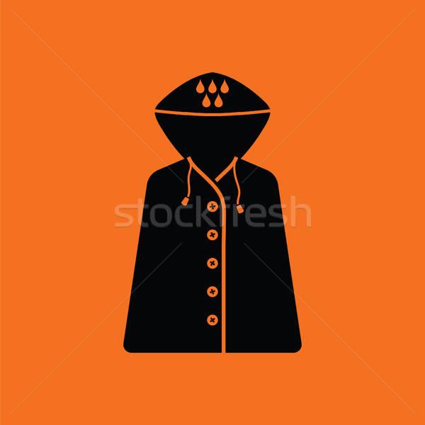 Esőkabát ikon narancs fekete divat természet Stock fotó © angelp