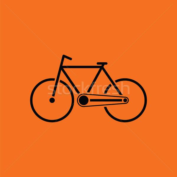 écologique vélo icône orange noir nature Photo stock © angelp
