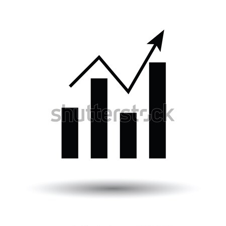 Stock photo: Analytics chart icon