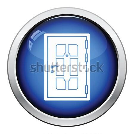 гардероб шкафу икона кнопки дизайна Сток-фото © angelp