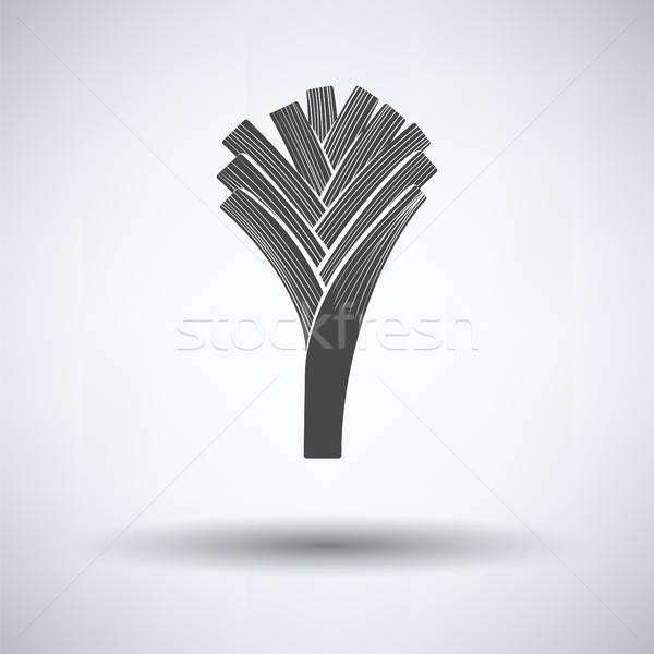 Prei ui icon grijs voedsel abstract Stockfoto © angelp