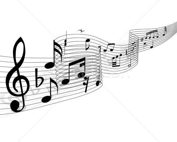 Hangjegyek vektor terv háttér diszkó kulcs Stock fotó © angelp