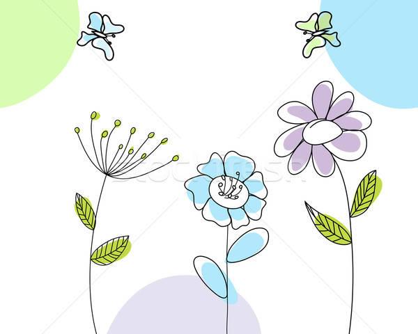 Kaart abstract vector meisje Stockfoto © angelp
