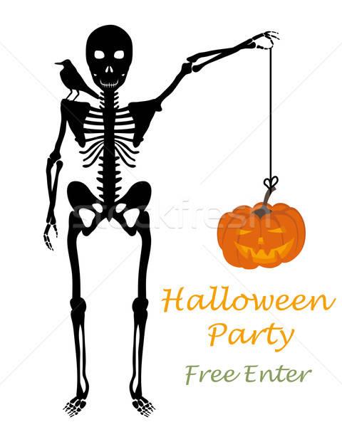 Halloween tebrik kartı tebrik zarif dizayn Stok fotoğraf © angelp