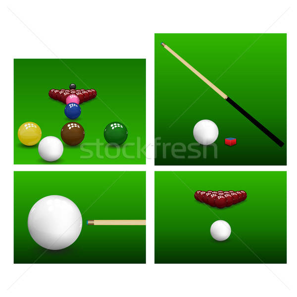 Snooker Set grünen Sport abstrakten Licht Stock foto © angelp