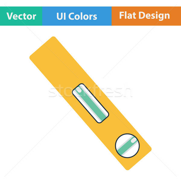Flat design icon of construction level Stock photo © angelp