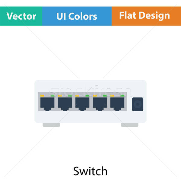 Ethernet switch icône couleur design affaires Photo stock © angelp