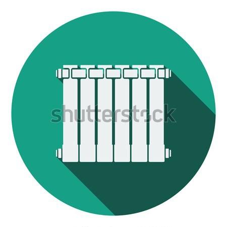 Icona radiatore lucido pulsante design segno Foto d'archivio © angelp