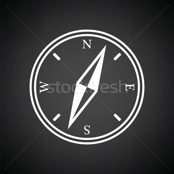 Compass icon Stock photo © angelp