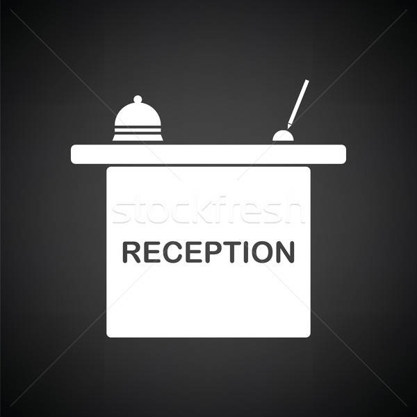 Hotel reception desk icon Stock photo © angelp