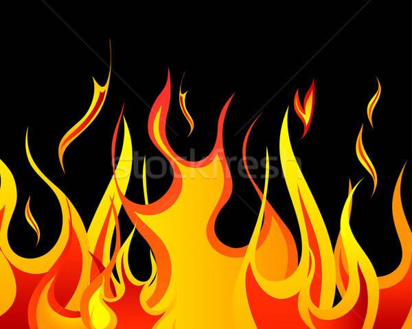 Фон нарисованный огонь