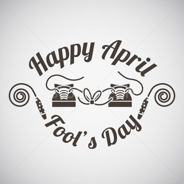 April fool's day emblem  Stock photo © angelp