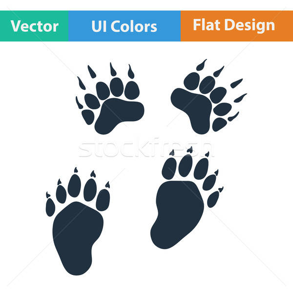 Flat design icon of bear trails  Stock photo © angelp