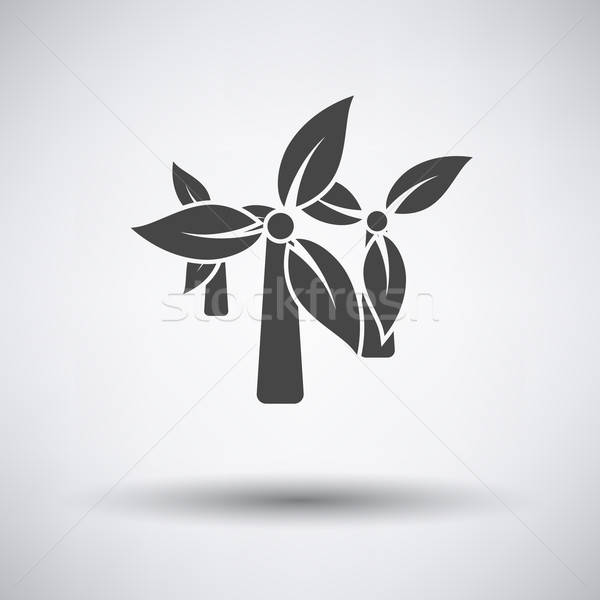 Wind mill with leaves in blades icon Stock photo © angelp
